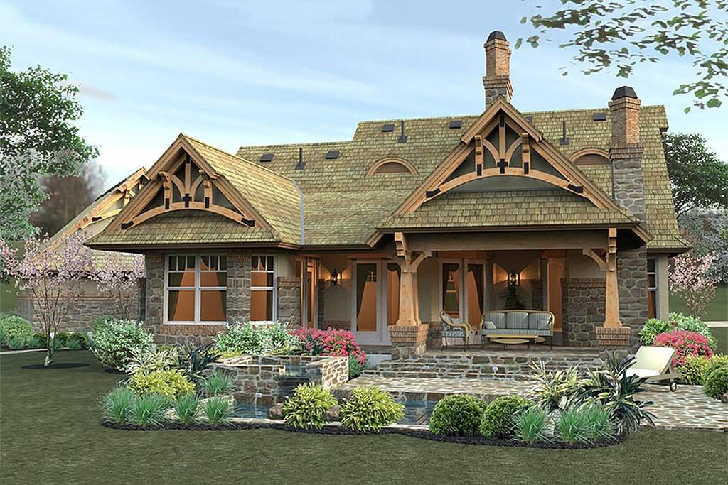 Craftsman Style House Plan  Baths  Sq Ft Plan   Floorplans Com