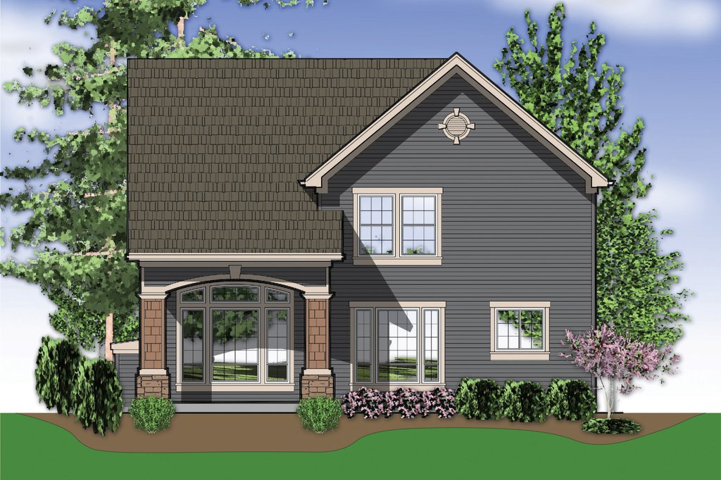 Traditional Style House Plan   Sq Ft Plan   Homeplans Com