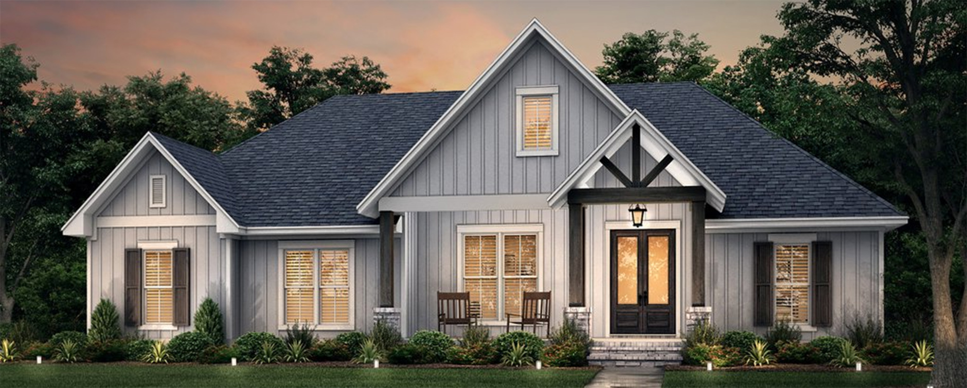 10 Modern Farmhouse Plans with Amazing Curb Appeal