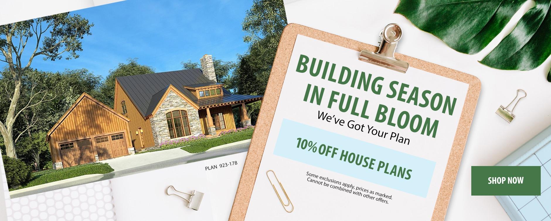 April Home Plan Sale Happening Now