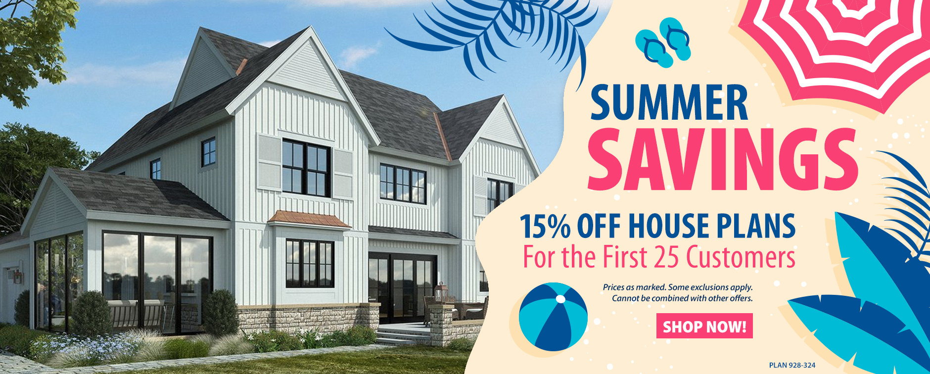 Home Plan Sale 15% Off