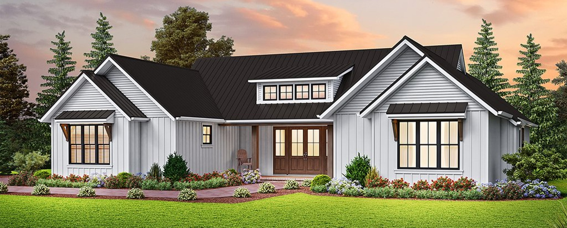 Browse Modern Farmhouse Plans