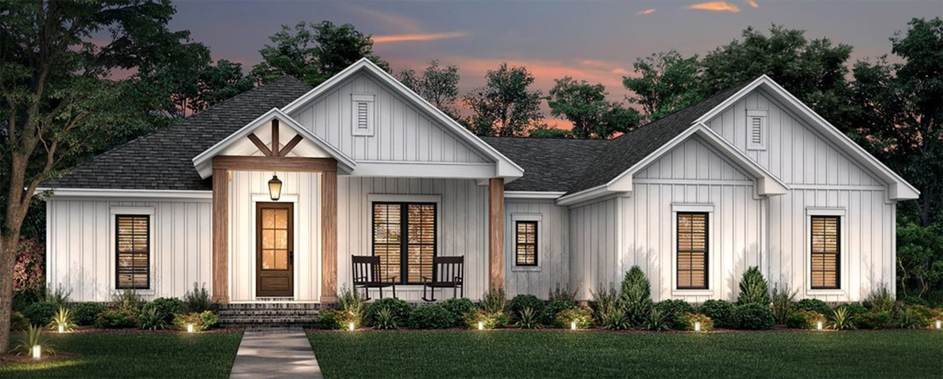 New Farmhouse Plan 430-234 with Photos