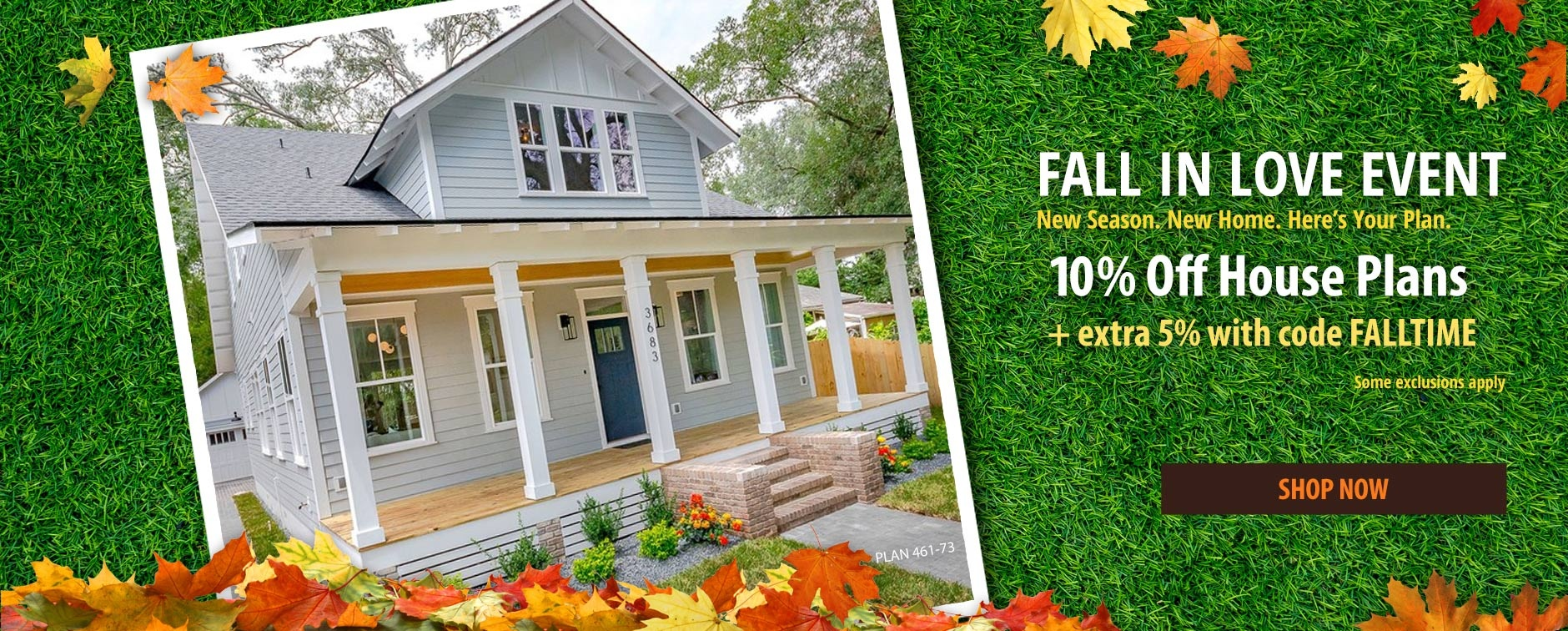 House Plan Sale 10% Off Plus Extra 5% with Code FALLTIME
