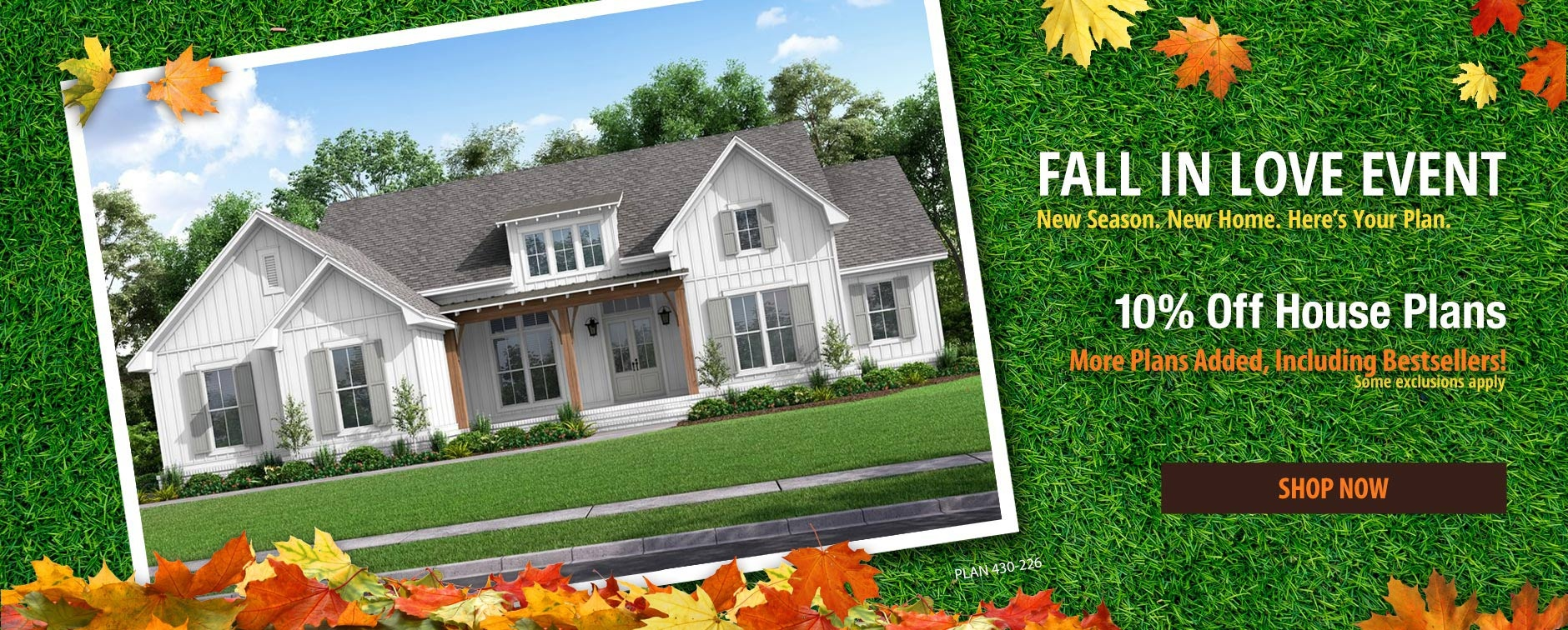 Floor Plan Sale 10% Off with More Plans Added