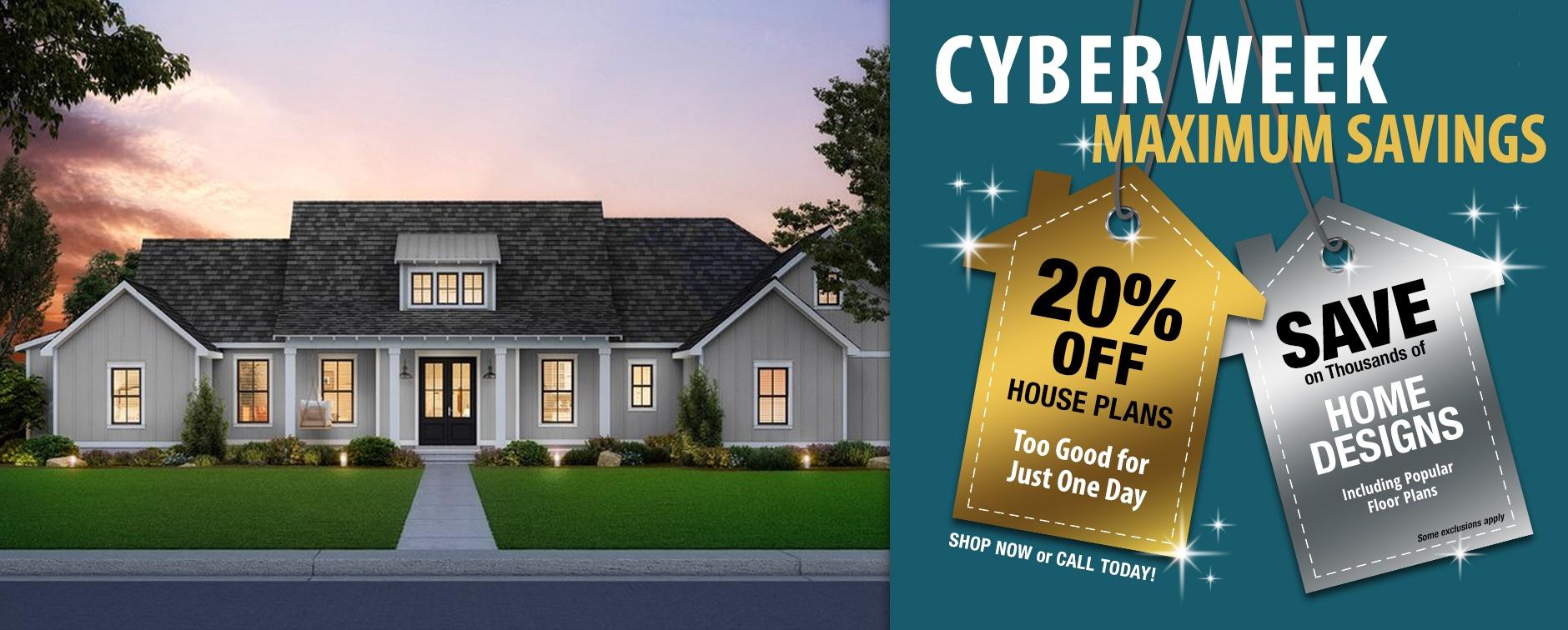 Builder House Plan Sale 20% Off
