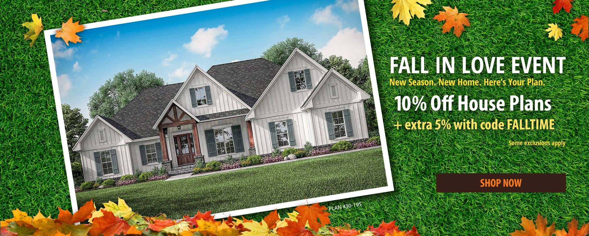 Home Plan Sale 10% Off Floor Plans Plus Extra 5% with Code FALLTIME