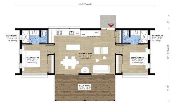 The Best 2 Bedroom Tiny House Plans Houseplans Blog Houseplans Com