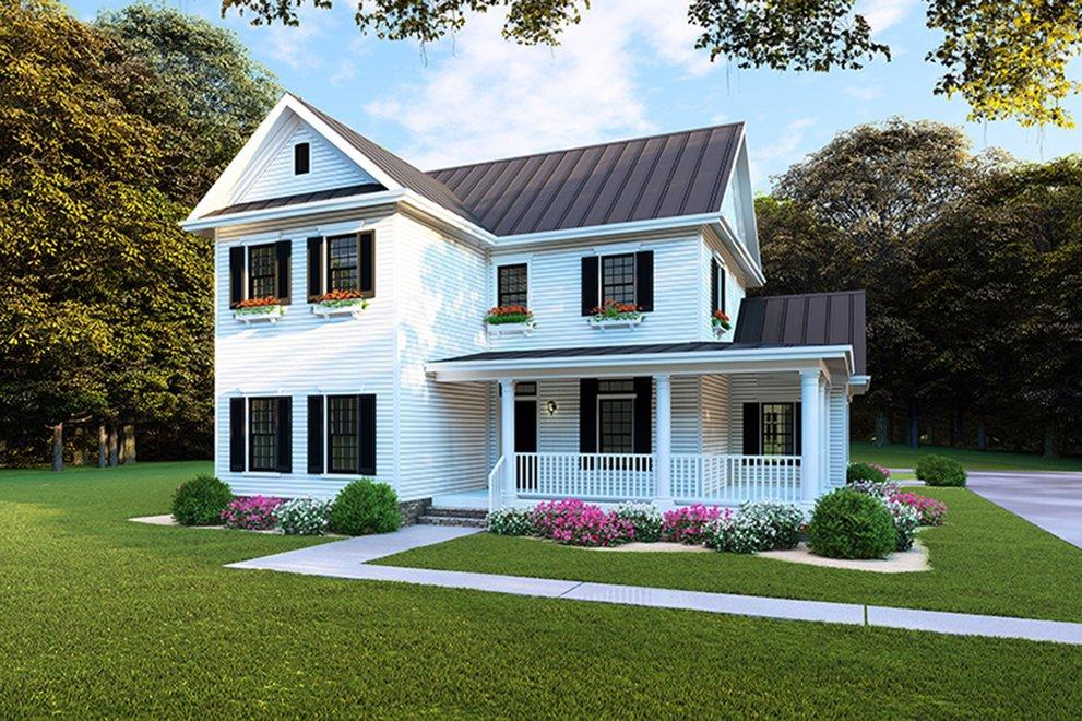 Narrow Home Plans Shallow Lot House Plans For Small Sites Blog Builderhouseplans Com