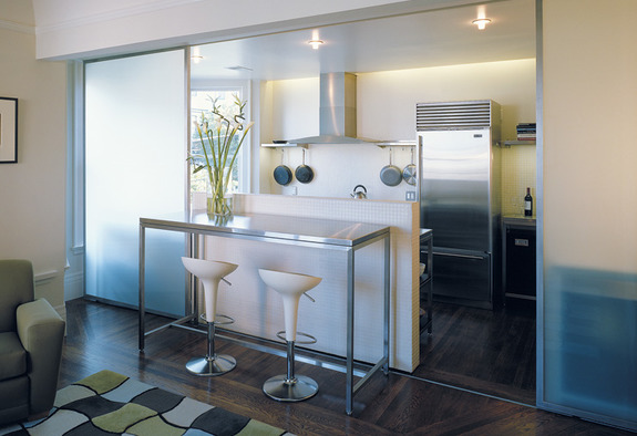 Sliding Partitions for Open Kitchens