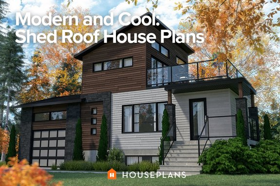 Modern and Cool: Shed Roof House Plans