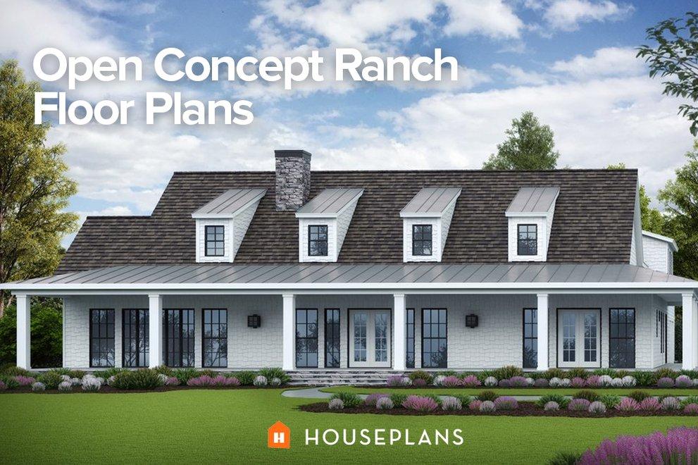 Open Concept Ranch Floor Plans Houseplans Blog ...