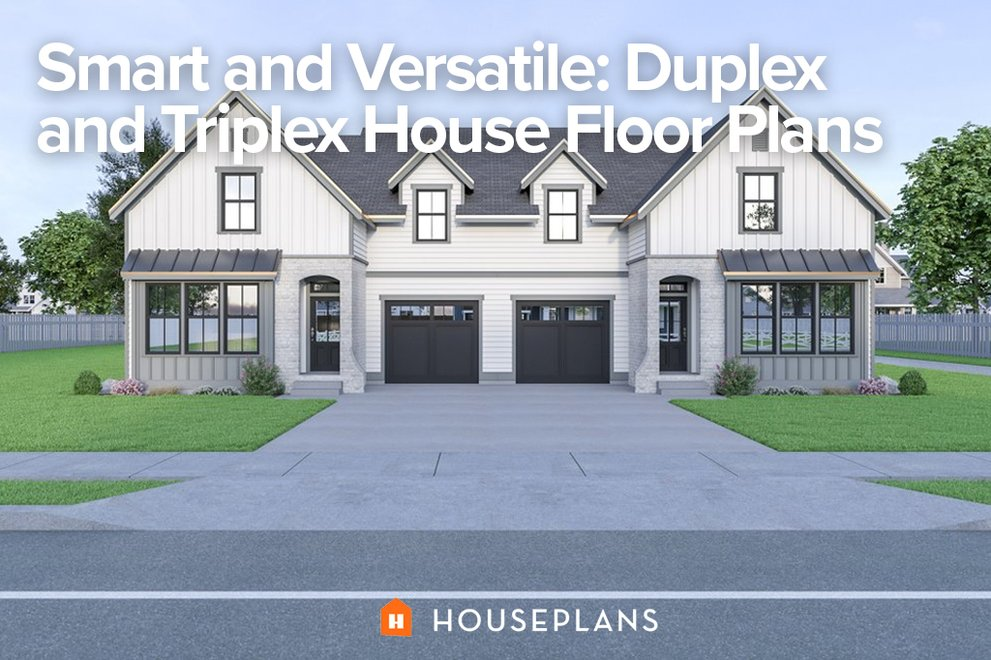 Smart and Versatile: Duplex and Triplex House Floor Plans