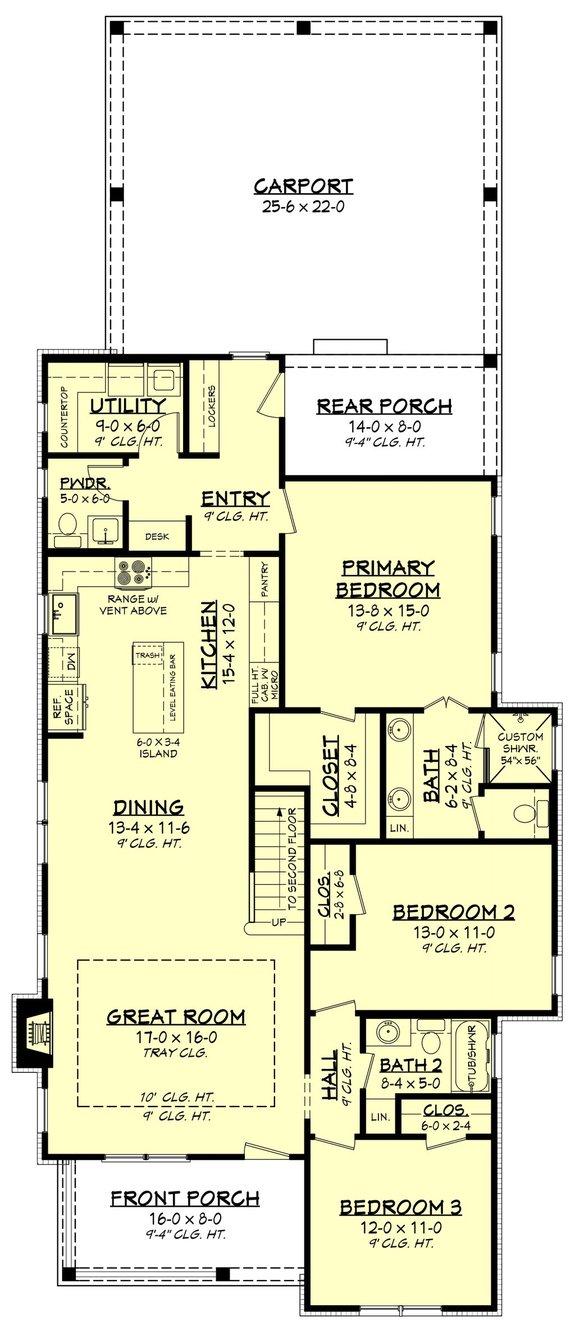 Simple Narrow Lot House Plans