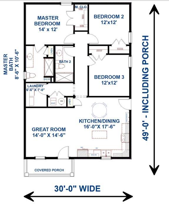 Minimalist Floor Plans with Porches