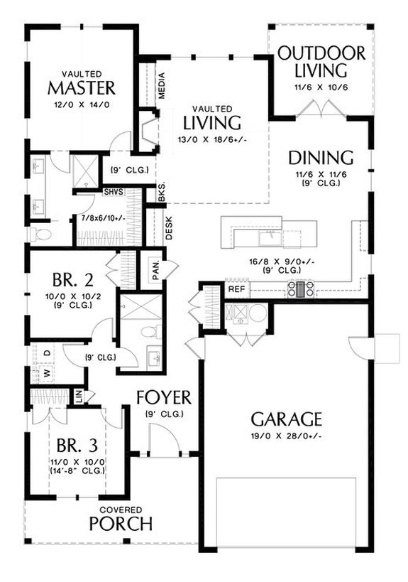 House Plan Design - Must-Have One Story Open Floor Plans