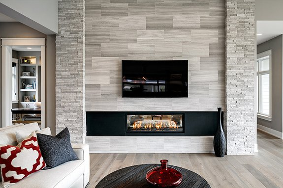 A Double Sided Fireplace (above) Warms Both The Living And Hearth Rooms,  While A Home Theater Delivers Ample Entertainment. The Master Suite  (located On The ...