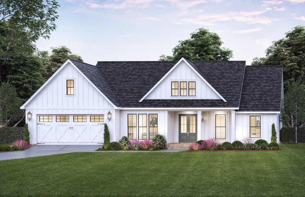 Open Floor Plan Modern Farmhouse Designs of 2021