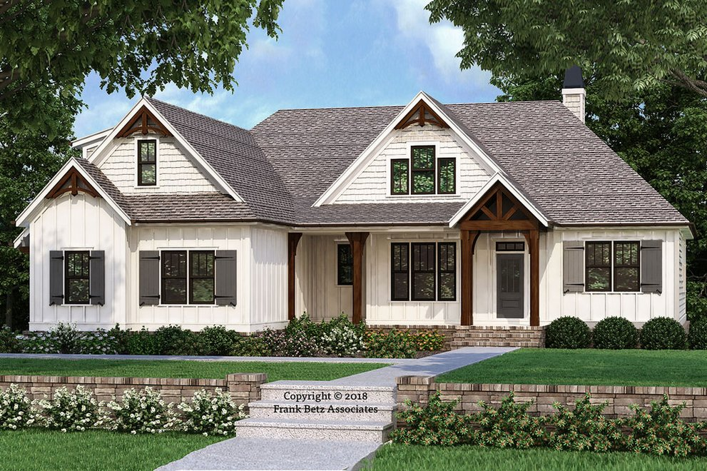 New Farmhouse and Ranch Plans from Frank Betz Associates