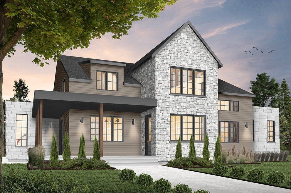 Same House Floor Plan, Different Exterior