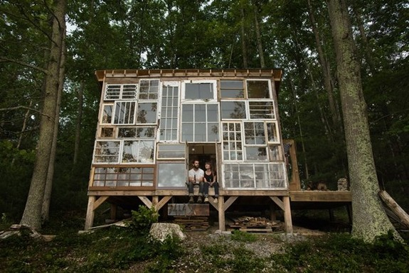 The $500 Recycled Window House