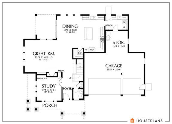 Style Focus: Modern Craftsman House Plans