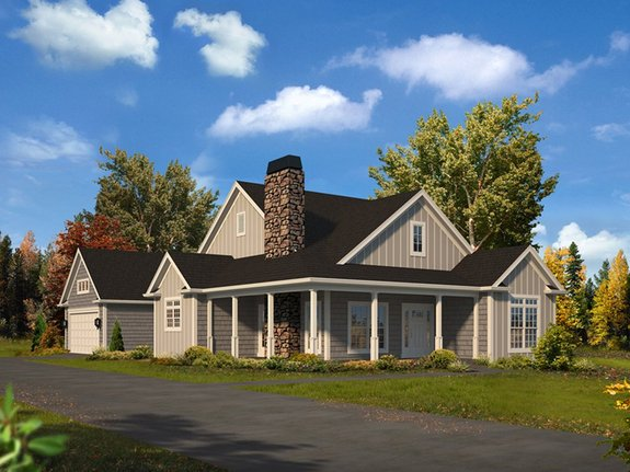 10 Small House Plans with Open Floor Plans