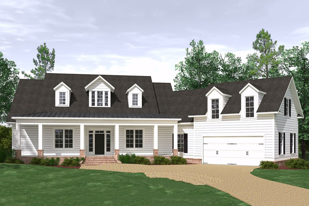 One Story Homes: New House Plan Designs with Open Floor ...