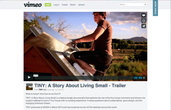 See this film about Building a Very Small House