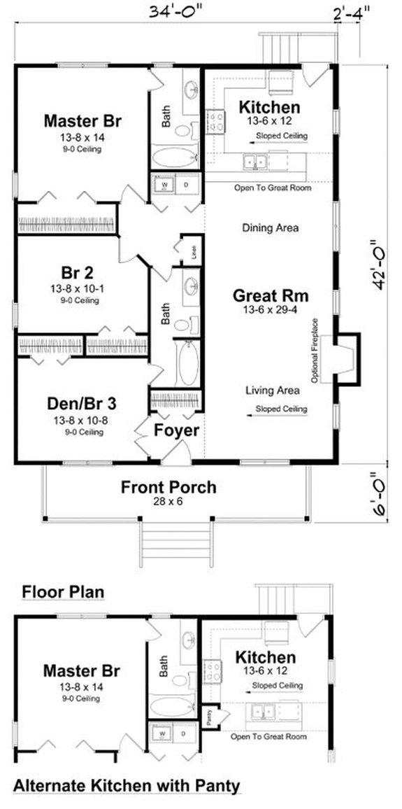 Modern Farmhouse Floor Plans with Photos