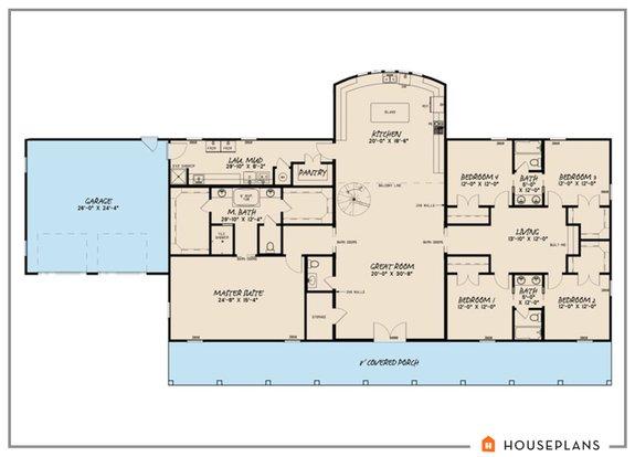 Barndominium House Plans, Most Popular One Level House Plans