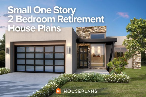 Small One Story 2 Bedroom Retirement House Plans