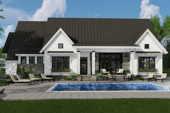 Dream House Plan - Contemporary House Plans for Southern Living and Entertaining