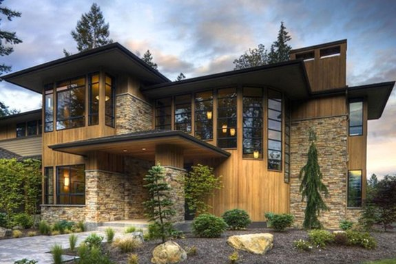 Stone & Glass Modern Home