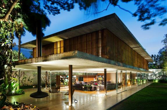 Modern House in Brazil on Film