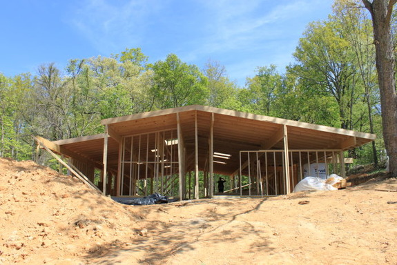 They're building a Mid-Century Modern Home