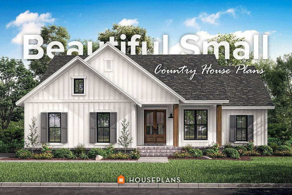 Beautiful Small Country House Plans, Country Farm House Plans