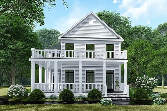 Minimalist Floor Plans with Porches