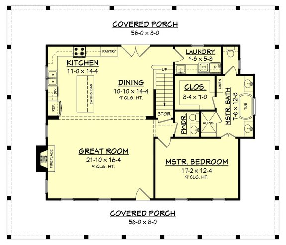 Architectural House Design - Hello Extra Space! 1.5 Story House Plans