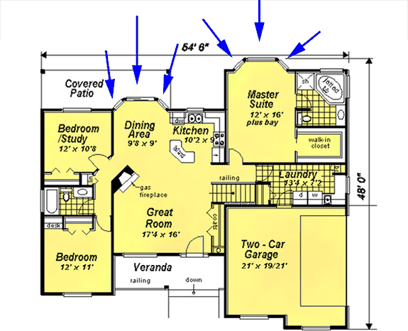 Home Plan Buyers Learn How To Read A Floor Plan Blueprint Blog Eplans Com