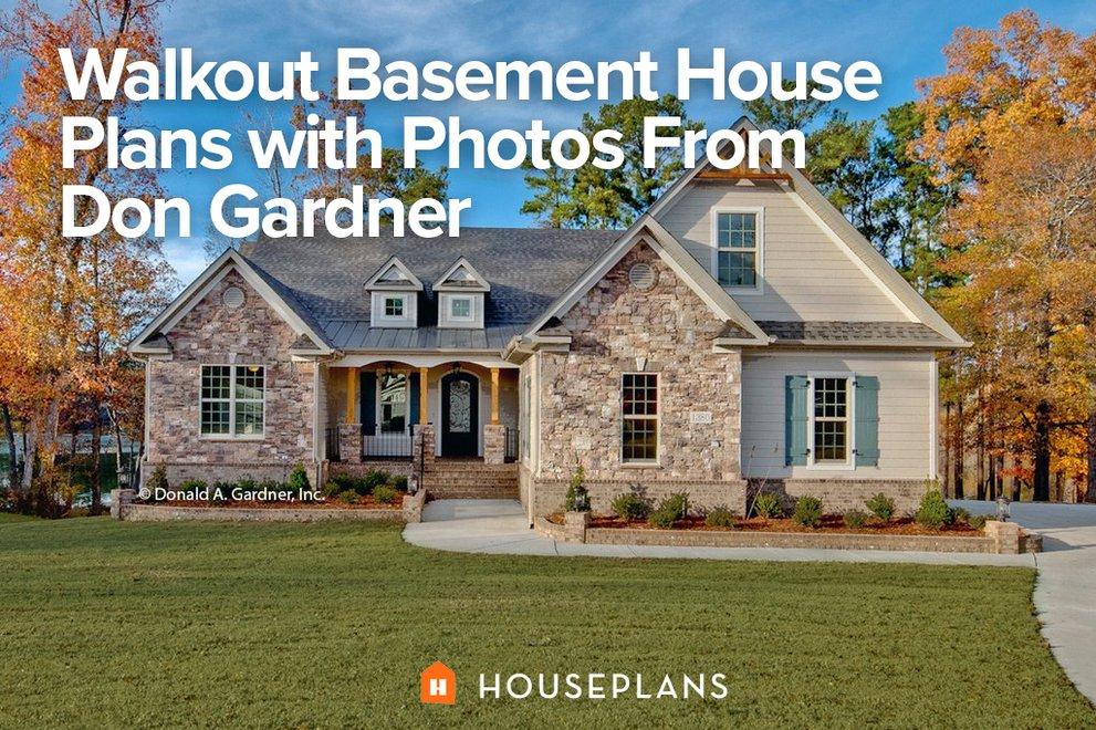 Walkout Basement House Plans With Photos From Don Gardner Houseplans Blog Houseplans Com