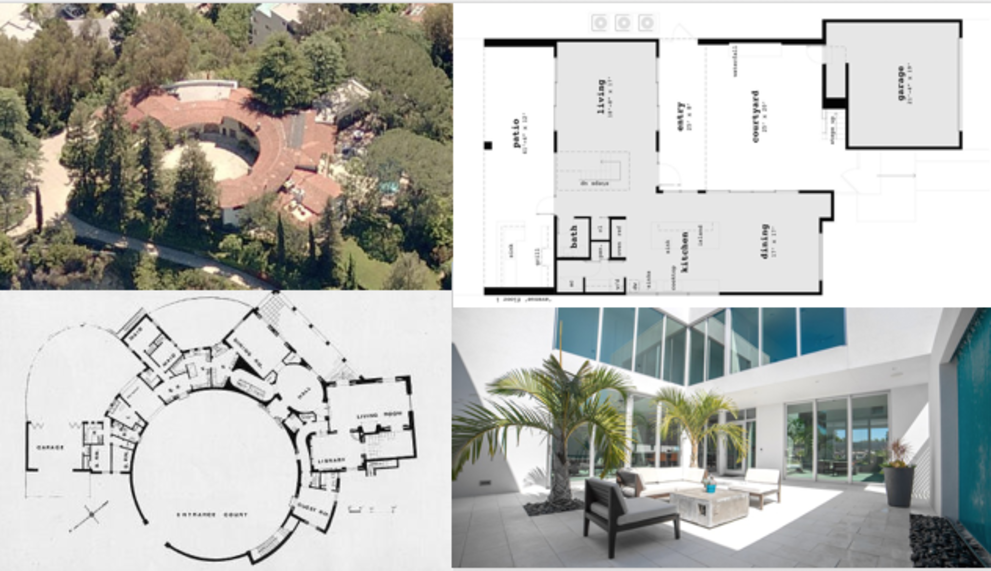 Courtyard House Plans Then & Now