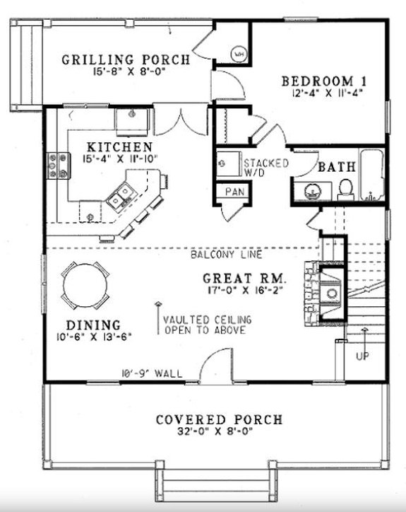 Small Cabin House Plans With Loft And Porch For Fall Houseplans Blog Houseplans Com