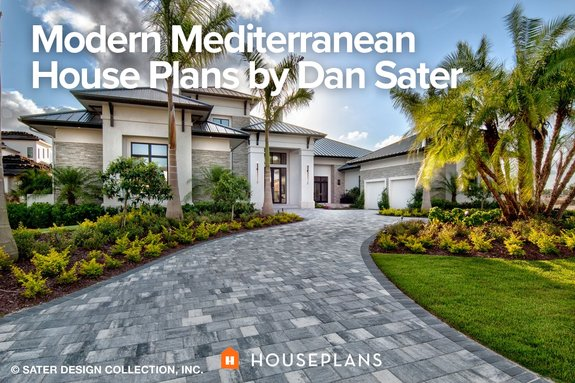 Modern Mediterranean House Plans by Dan Sater