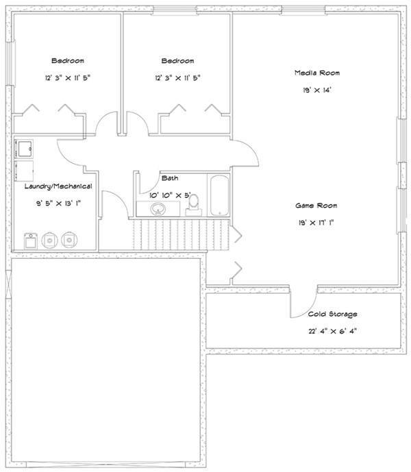 Dream House Plan - Ranch Floor Plan - Lower Floor Plan #1060-16