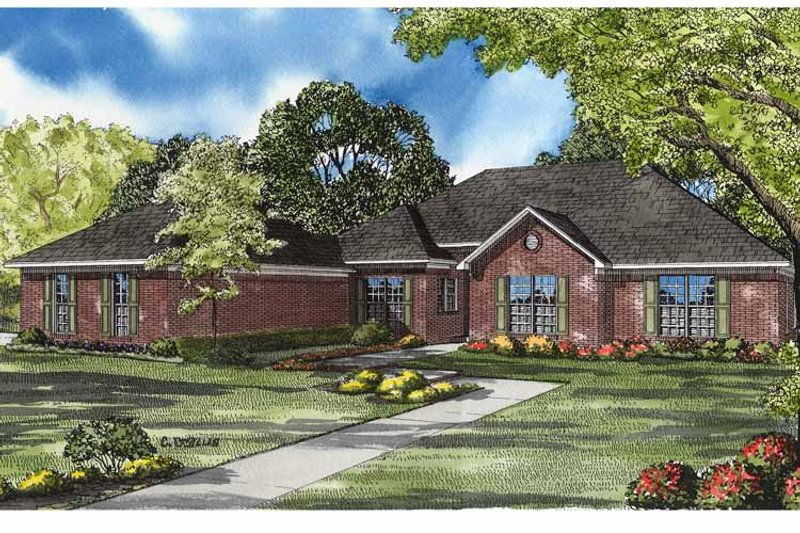 Ranch Exterior - Front Elevation Plan #17-3152 - Houseplans.com