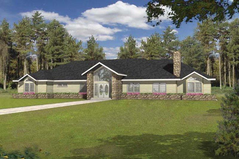 House Plan Design - Ranch Exterior - Front Elevation Plan #117-866
