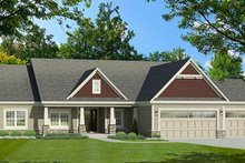 Ranch Exterior - Front Elevation Plan #1010-193