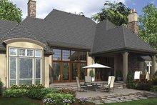Dream House Plan - European Exterior - Rear Elevation Plan #48-878