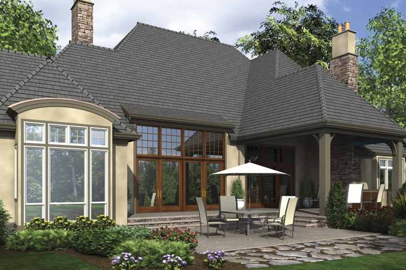 European Exterior - Rear Elevation Plan #48-878 - Houseplans.com